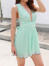 Load image into Gallery viewer, Ms. New Halter Deep V-Neck Halter Dress