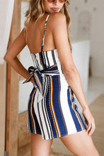 Load image into Gallery viewer, Sexy Stripe Sleeveless Two-Piece Rompers Suits
