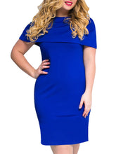 Load image into Gallery viewer, Flounce  Plain Plus Size Bodycon Dresses