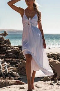 Sexy Beach Sleeveless Vacation Maxi Dress