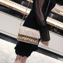 Load image into Gallery viewer, Sequined Chain Tassel Shoulder Bag