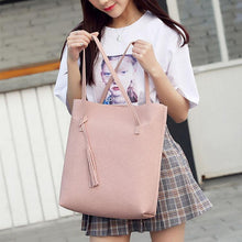 Load image into Gallery viewer, Litchi Lines Ladies Shoulder Bag