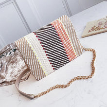 Load image into Gallery viewer, Color Weaving Chain Crossbody Bag