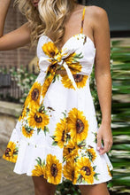 Load image into Gallery viewer, Sexy Sleeveless Floral Print Mini Dress