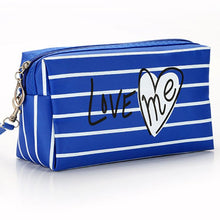 Load image into Gallery viewer, Love Stripe Cosmetic Bag