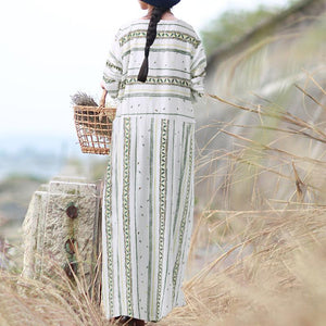 Striped Long Sleeve Party Shirt Dress