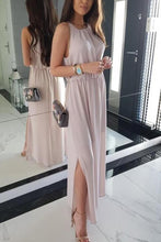 Load image into Gallery viewer, Sexy Fashion Pink Sleeveless Maxi Dress