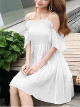 Load image into Gallery viewer, Summer Sexy Off Shoulder Defined Waist Skater Dress