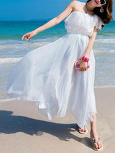 Load image into Gallery viewer, Summer Off Shoulder Chiffon Beach Maxi Dress
