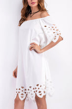 Load image into Gallery viewer, Fashion Off Shoulder Hollow Out Shift Dress