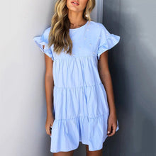 Load image into Gallery viewer, Stylish Flounce Short Sleeves Mini Dress