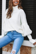 Load image into Gallery viewer, Fashion Casual Loose Plain High Collar Long Sleeve Sweater