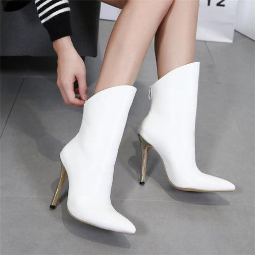 Elegant Fashion Plain High Tube Mules High Heel Boots