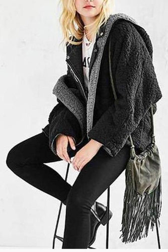 Sweet Nifty Thermal Loose Plain Long Sleeve Cardigan