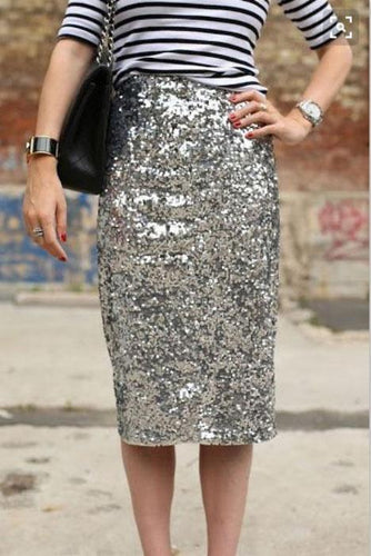 Fashion Slim Fit Sliver Bodycon Dress