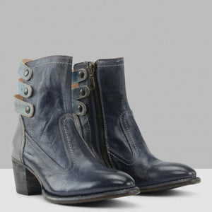 Winter/Autumn Leisure Round Head Low Heel Short Martin Boots