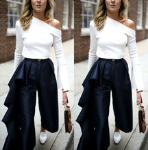 Load image into Gallery viewer, Fashion Solid Color   Loose Broad Leg Trousers