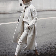 Load image into Gallery viewer, Fashion Chic Plain Loose Woolen Long Coat