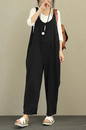 Casual Plain  Loose Oversize Jumpsuit