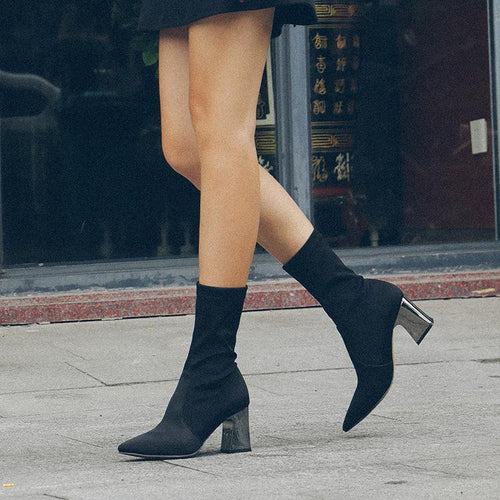 Fashion Women High Heel Long Boots