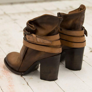 Winter Fashion High Heel Thick With Short Boots