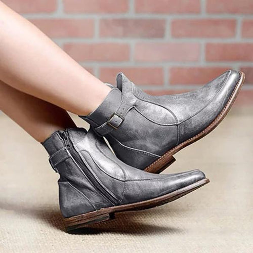Fashion & Cofortable Leather Flat Boots