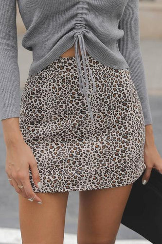 Sexy High Waist Leopard Printed Slim Skirt
