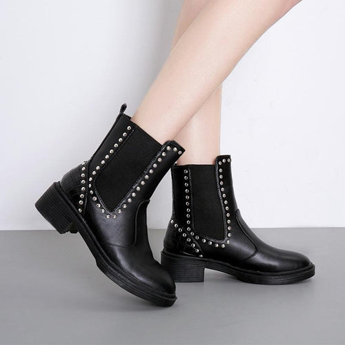 Fashion Leather Women's Boots