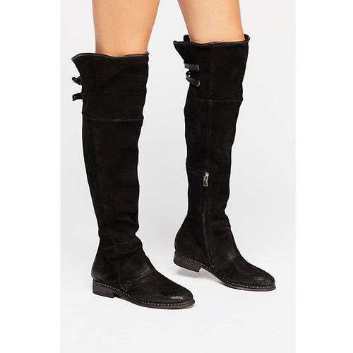 Fashion Style Low Heel High Boots
