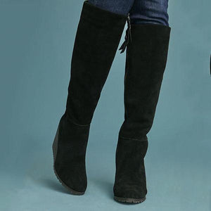 Fashion High Heel Women Winter Suede Boots
