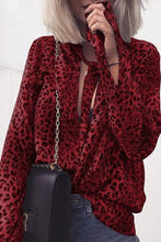 Load image into Gallery viewer, Fashion Leopard Print Long Sleeve Shirt