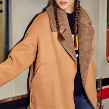 Load image into Gallery viewer, Fashion Lapel Loose Lamb Woolen Coat