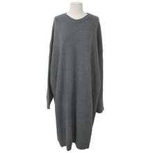 Load image into Gallery viewer, Round Neck Pure Color Loose Knitted Sexy Shift Dress