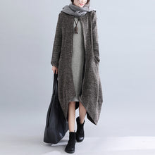 Load image into Gallery viewer, Casual Fashion Plain Loosen Irregular Hem Long Cardigan