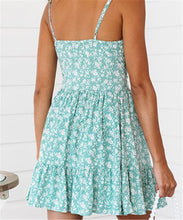 Load image into Gallery viewer, Sexy V Neck Print Halter Dress