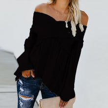 Load image into Gallery viewer, Fashion Cross Strap Plain Off Shoulder Blouse