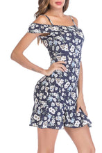Load image into Gallery viewer, Spaghetti Strap  Print  Short Sleeve Casual Dresses