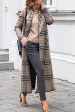 Load image into Gallery viewer, Fashion Grid Long Sleeve Overcoat