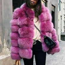 Load image into Gallery viewer, Fashion Faux Fur Long Sleeve Coats