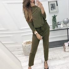 Load image into Gallery viewer, Casual Pure Colour Long Sleeve Belted Jumpsuits