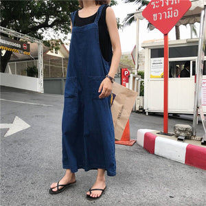 Fashion Casual Solid Color Loose Jumpsuits