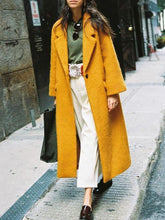 Load image into Gallery viewer, Winter Fashion Lapel Long Coat