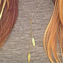 Load image into Gallery viewer, Feather Leaf Choker Necklaces For Women
