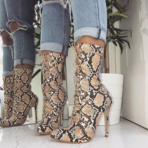 Fashion Sharp Head High Heel Boots
