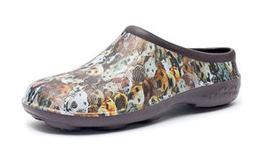 Dog Design Chunky Tread Garden Clogs
