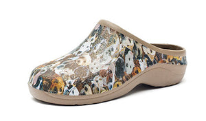 Dog Patterned Garden Clogs Backdoorshoes®