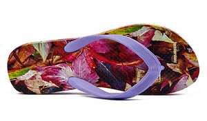 Autumn Leaves Ladies Flip Flops