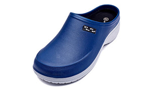 Navy and Grey Two Tone Clogs