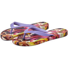 Load image into Gallery viewer, Autumn Leaves Ladies Flip Flops