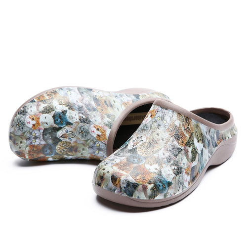 Cats Garden Clogs Backdoorshoes